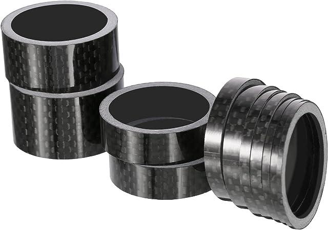 """Unidirectional UD Gloss Carbon Fiber Bike Stem Spacer 1-1//8/"""" 5, 10, 15, 20 mm"""