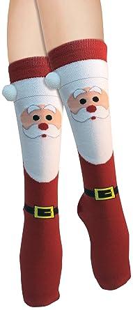 forum novelties womens adult christmas socks santa one size - Light Up Christmas Socks