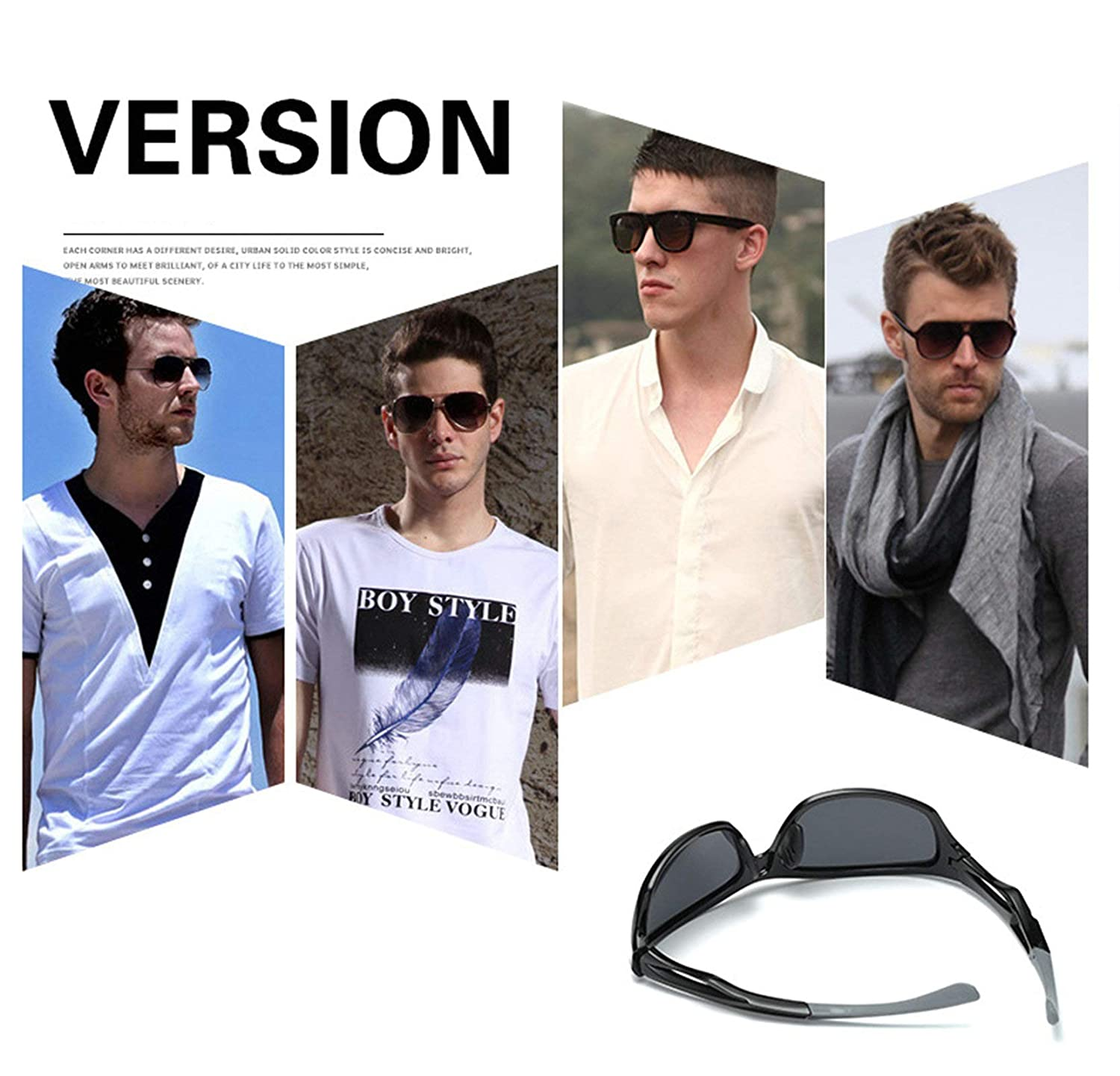 69ad4a8ec Amazon.com: Aooaz Sunglasses Men Sunglasses Outdoor Sport Riding Glasses  Night Vision Glasses Goggles Black Blue: Clothing