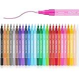 26 Colors Acrylic Paint Pens for Rock Painting, Stone, Ceramic, Glass, Wood, Halloween Pumpkin Paint, Fabric, Canvas, Porcela