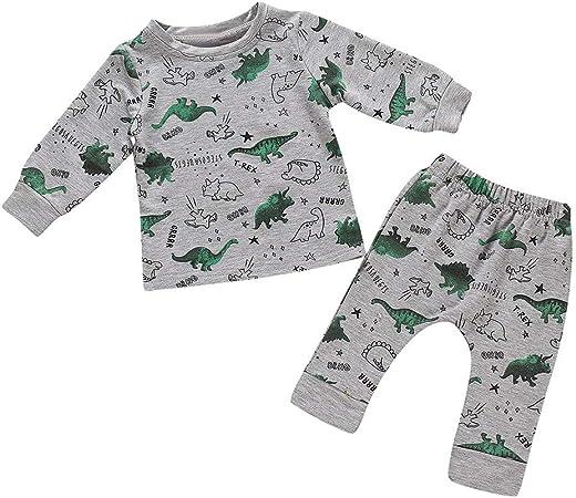 Pijama para bebé recién Nacido, Conjunto de Pijama de Manga ...