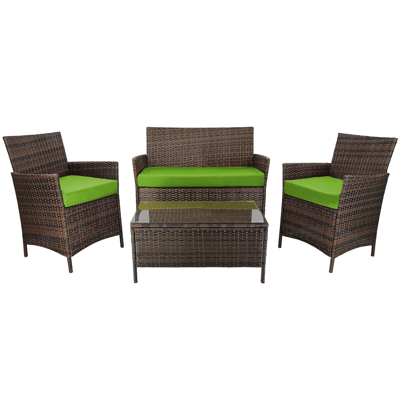 ventus 7 teilige rattan sitzgruppe lounge kuba lounge set poly rattan inkl auflagen und bez ge. Black Bedroom Furniture Sets. Home Design Ideas
