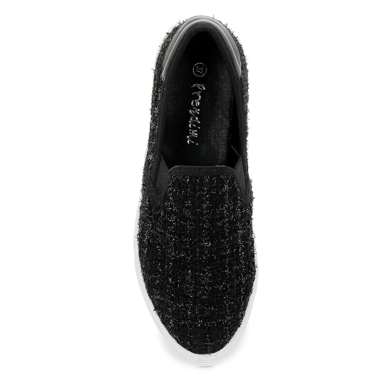 PRENDIMI Scarpe&Scarpe - Slipper Aus Bouclé-Stoff, Sneakers - 40,0, Schwarz