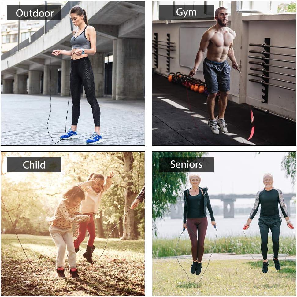 Gym Boxe Ajustable Jump Speed Rope pour Sport Fitness Entra/înement Molbory Corde /à Sauter Hommes et Femmes Crossfit
