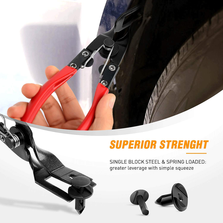 GOOACC Nylon Bumper Fastener Rivet Clips Automotive Furniture Assembly Expansion Screws Kit Auto Body Clips 8mm 40PCS