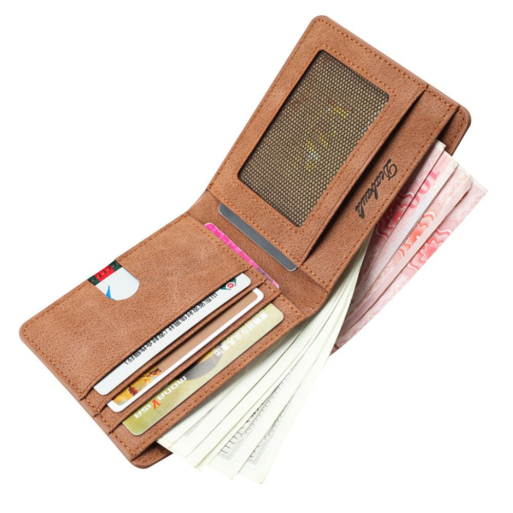GzxtLTX Bifold Wallet PU Leather Credit Card Holder for Men by GzxtLTX Bags (Image #2)
