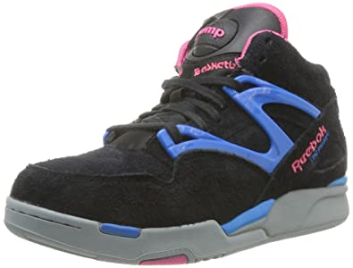 Reebok Pump Omni Lite, Baskets mode femme Noir (BlackCandy Pink