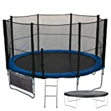 MaxiJump ® XL Extra-Large 10FT 10 FT Foot Trampoline With FREE Safety Net Enclosure, Ladder, Rain Cover, Anchor Kit & Shoe Bag