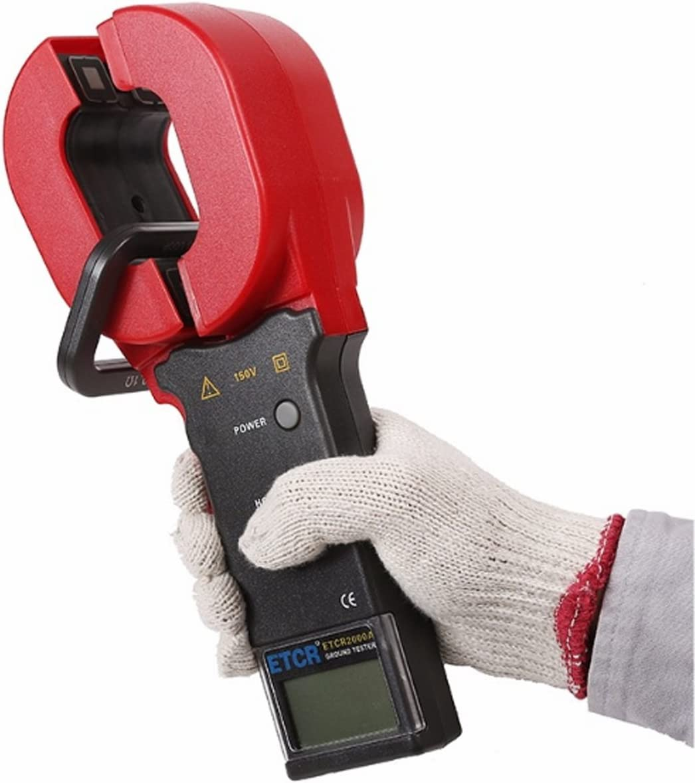 YISUNF Clamp Earth Resistance Tester 0.01-200ohm Digital Ground Resistance Tester ETCR2000A Resistance Tester