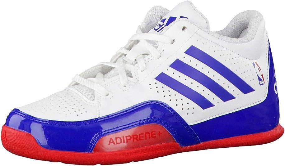 adidas 3 Series 2015 NBA K - Zapatillas para niño, Color Blanco/Azul/Rojo, Talla 38: Amazon.es: Zapatos y complementos