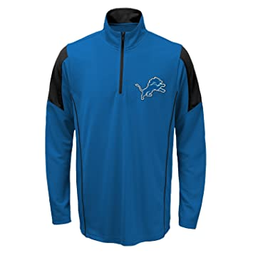 d30e9c4bfb6 Amazon.com   Detroit Lions Youth NFL Lightweight 1 4 Zip Pullover Long  Sleeve Shirt   Sports   Outdoors