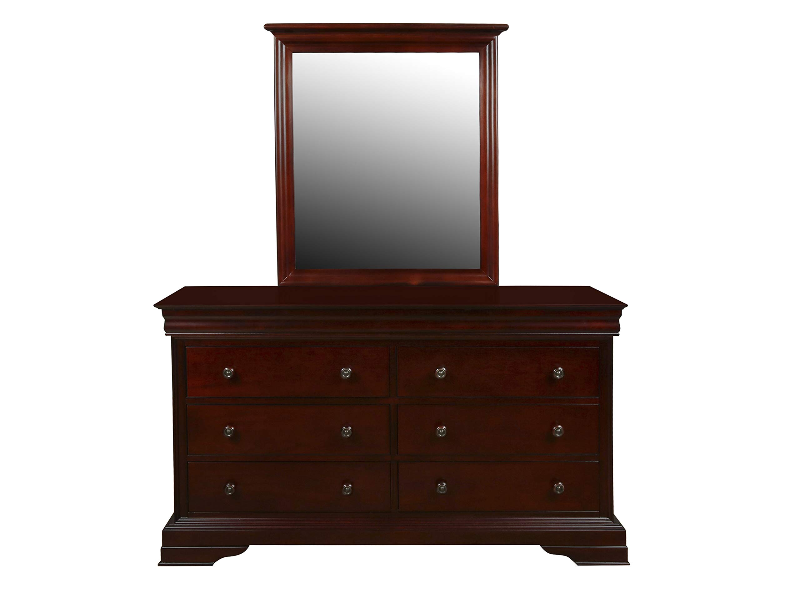 New Classic Furniture 1040-052 Versailles Youth Dresser, Bordeaux