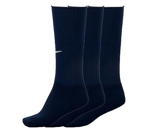 NIKE para hombre 3PPK entrenamiento de fútbol del tobillo Calcetín, Dark Navy, L