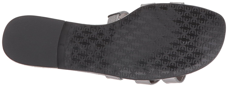 Sam Sandal Edelman Women's Bay Slide Sandal Sam B07745G5DG 5.5 B(M) US|Pewter Metallic Leather 7c6089