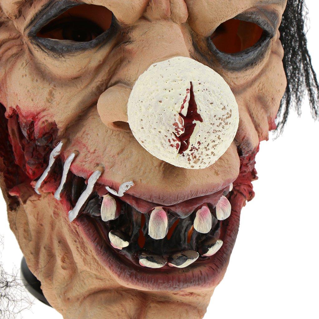 D DOLITY Máscara de Látex Hambriento para Adultos Día de Haloween Vispera de Todos Santos para Fiestas - Payaso Calvo con Pelo: Amazon.es: Juguetes y juegos