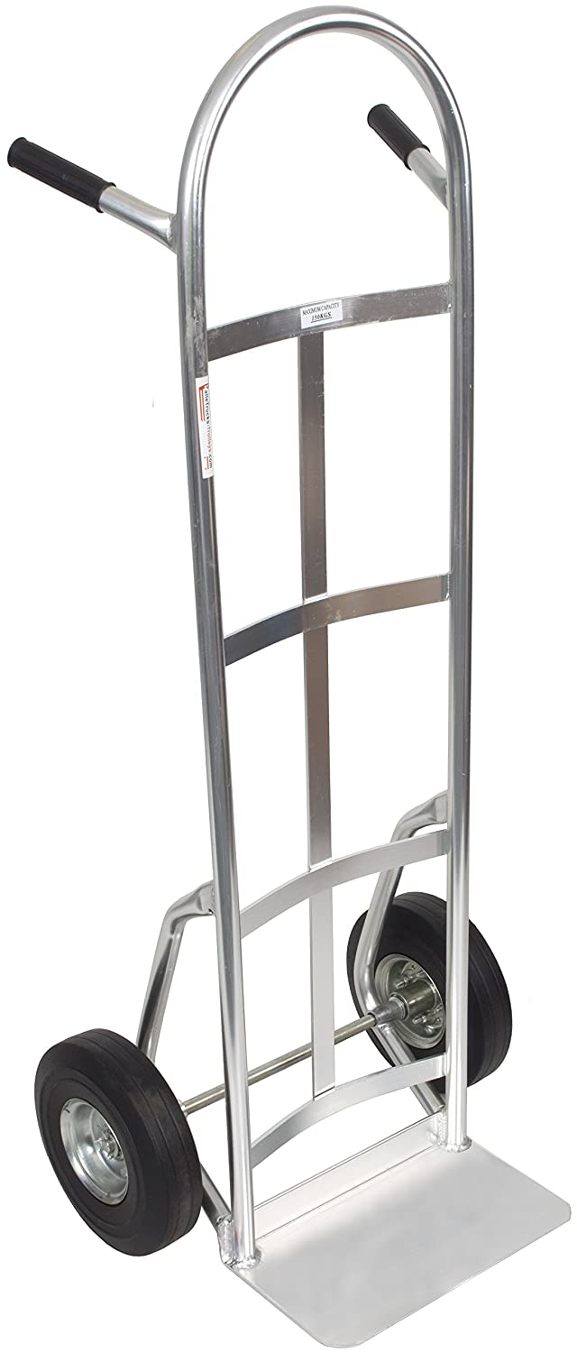150kg Aluminium Heavy Duty Sack Truck Hand Trolley Dolly Barrow Platform with Solid Puncture Proof Wheels SafetyLiftinGear
