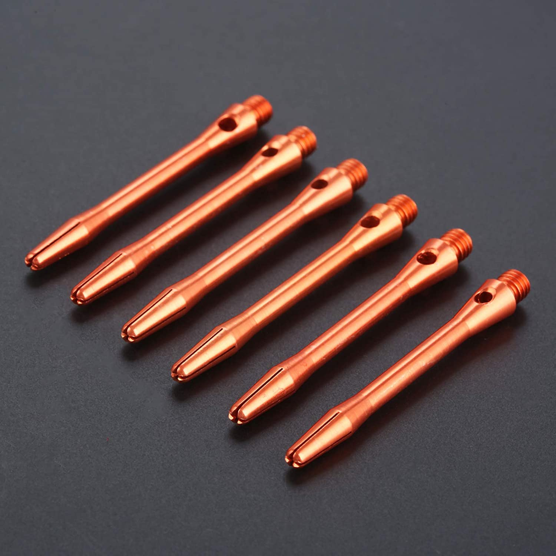 Ca/ñas de Dardos de Aluminio Tallos de Dardos de tama/ño Mediano con v/ástagos de Metal 6 2 Juegos