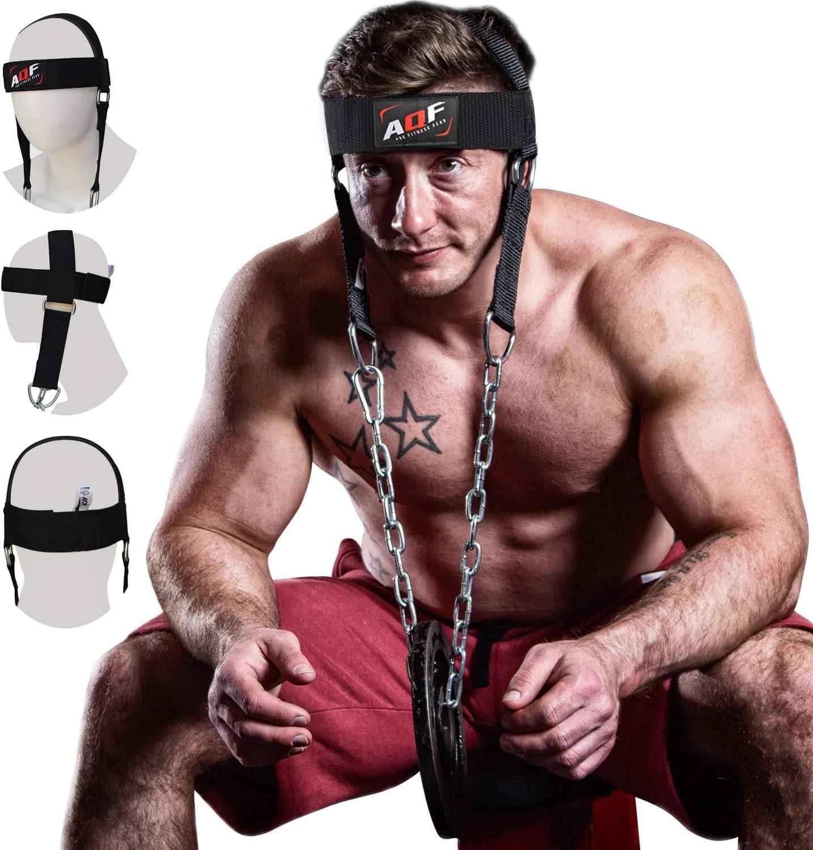 Head Neck Wrist Harness Belt Dip Chain Strap Weight Lifting Gym Training Builder
