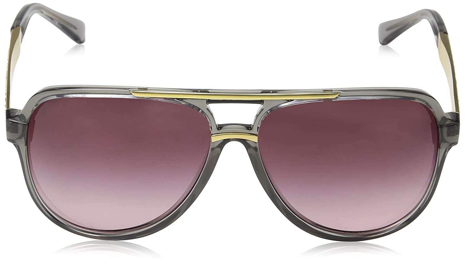 28288292eca22 Michael Kors CLEMENTINE II MK6025 Sunglasses 30918H-60 - Grey  Transparent gold MK6025-30918H-60 at Amazon Women s Clothing store