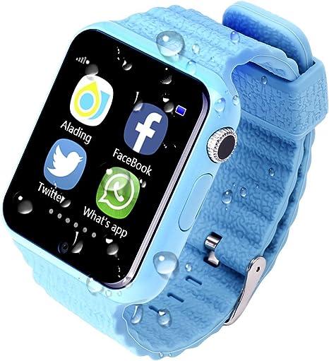 Los niños GPS reloj inteligente v7 K 3,9 cm seguridad anti-lost ...