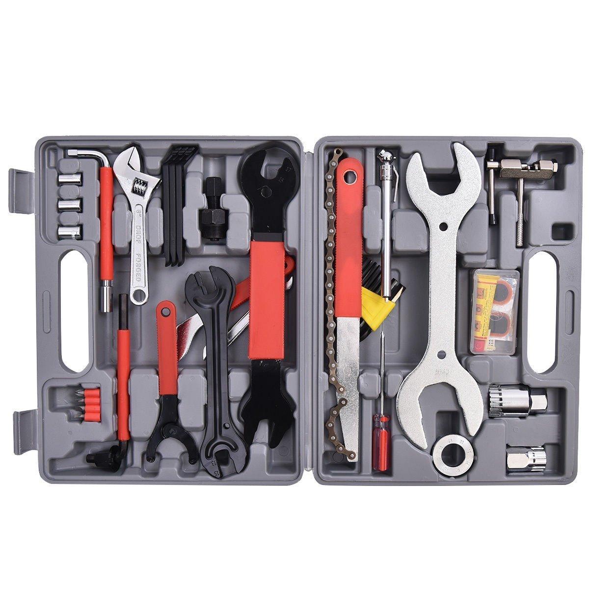 Goplusつ 44 PC Multi-Function Bike Bicycle Repair Tools Tool Kit Set Home Mechanic Box Cycling by Goplus   B01FTXYX1O