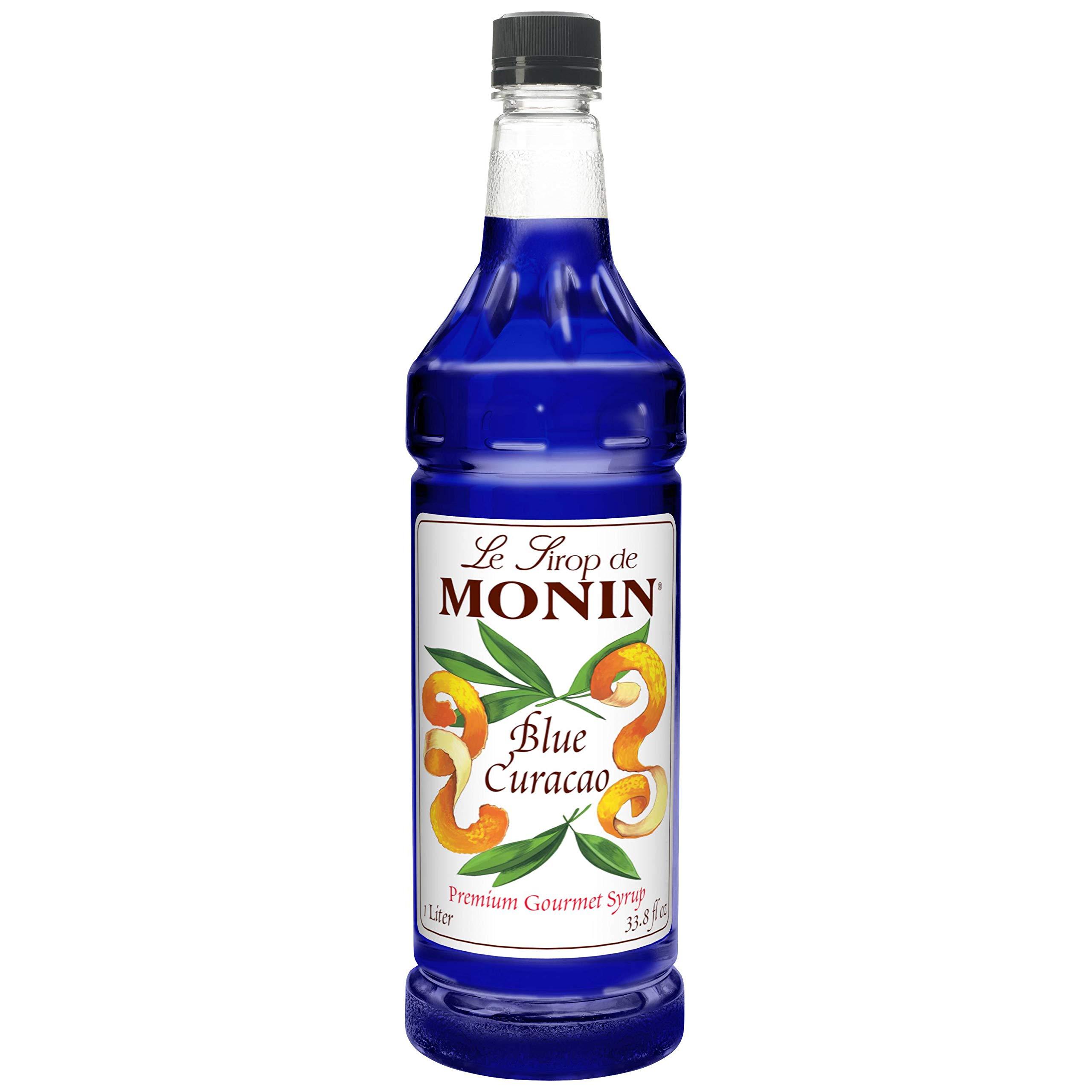 Monin Blue Curacao Flavor Syrup 1 Liter