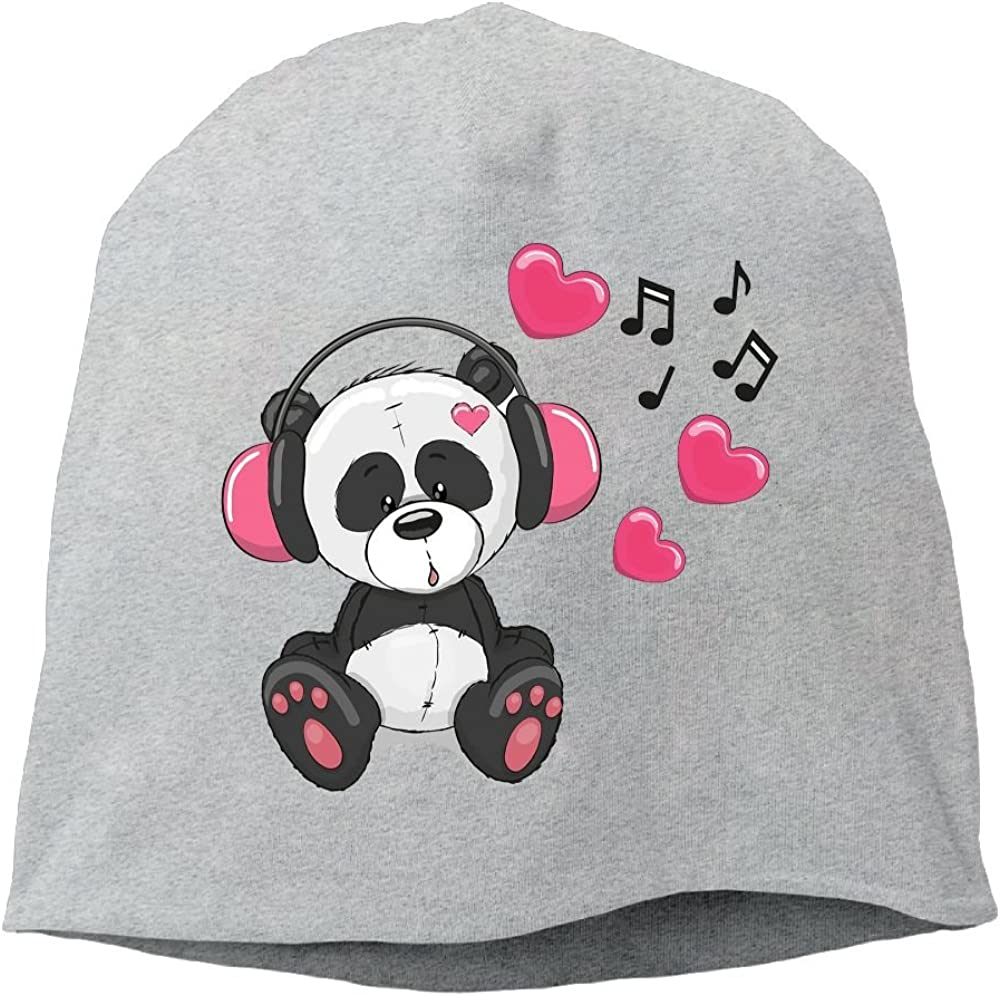 Janeither Headscarf Music Panda Hip-Hop Knitted Hat for Mens Womens Fashion Beanie Cap