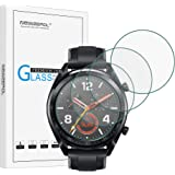 NEWZEROL [4 Pack] for Huawei Watch GT/GT Active/GT Elegant Screen Protector 2.5D Arc Edges 9 Hardness High-Definition Tempered Glass Screen Protector Anti-scratch Bubble-free Protective Film–Clear