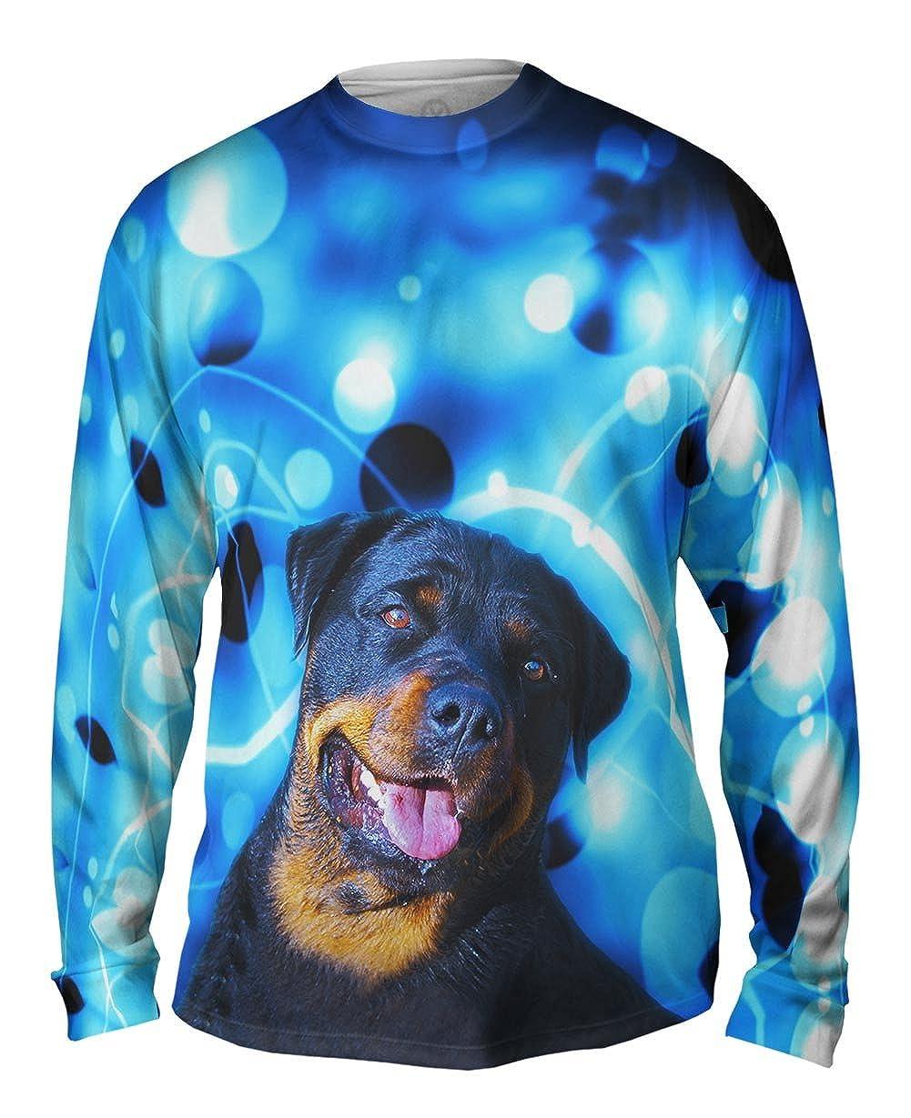 Yizzam Mens Long Sleeve TShirt Rottweiler Trance Dance