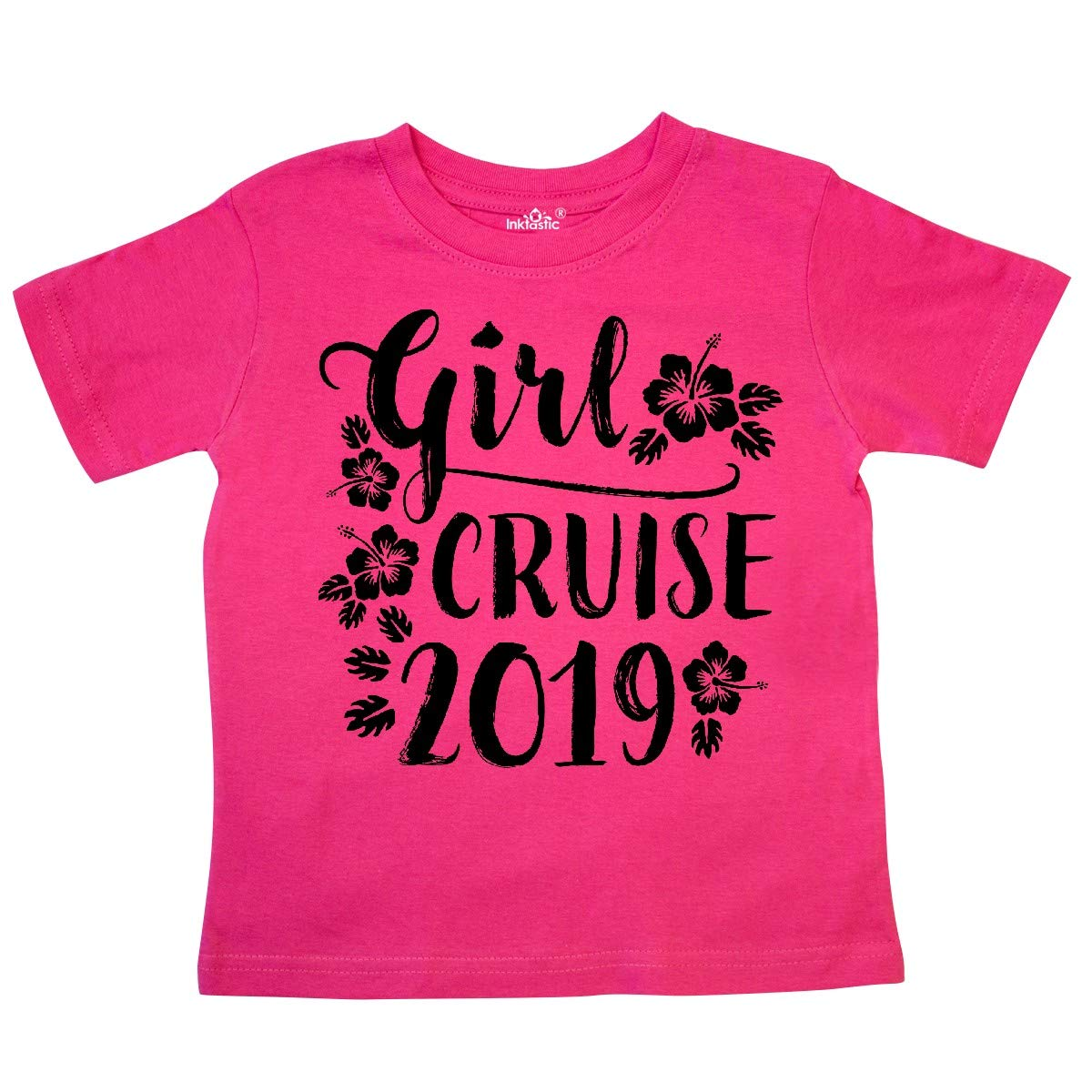 inktastic Girl Cruise 2019 with Flowers Toddler T-Shirt