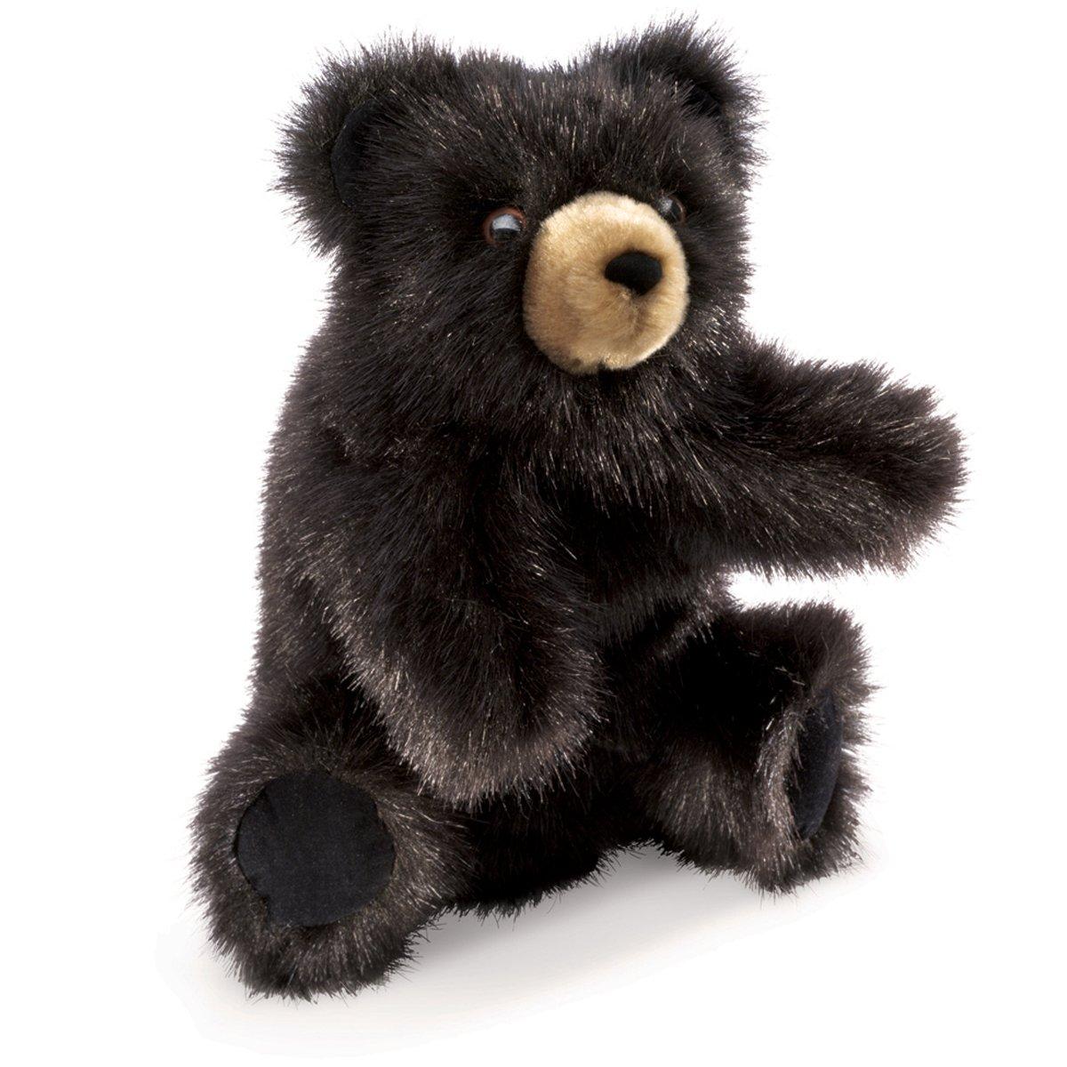 Folkmanis Baby Black Bear Hand Puppet, 1 EA