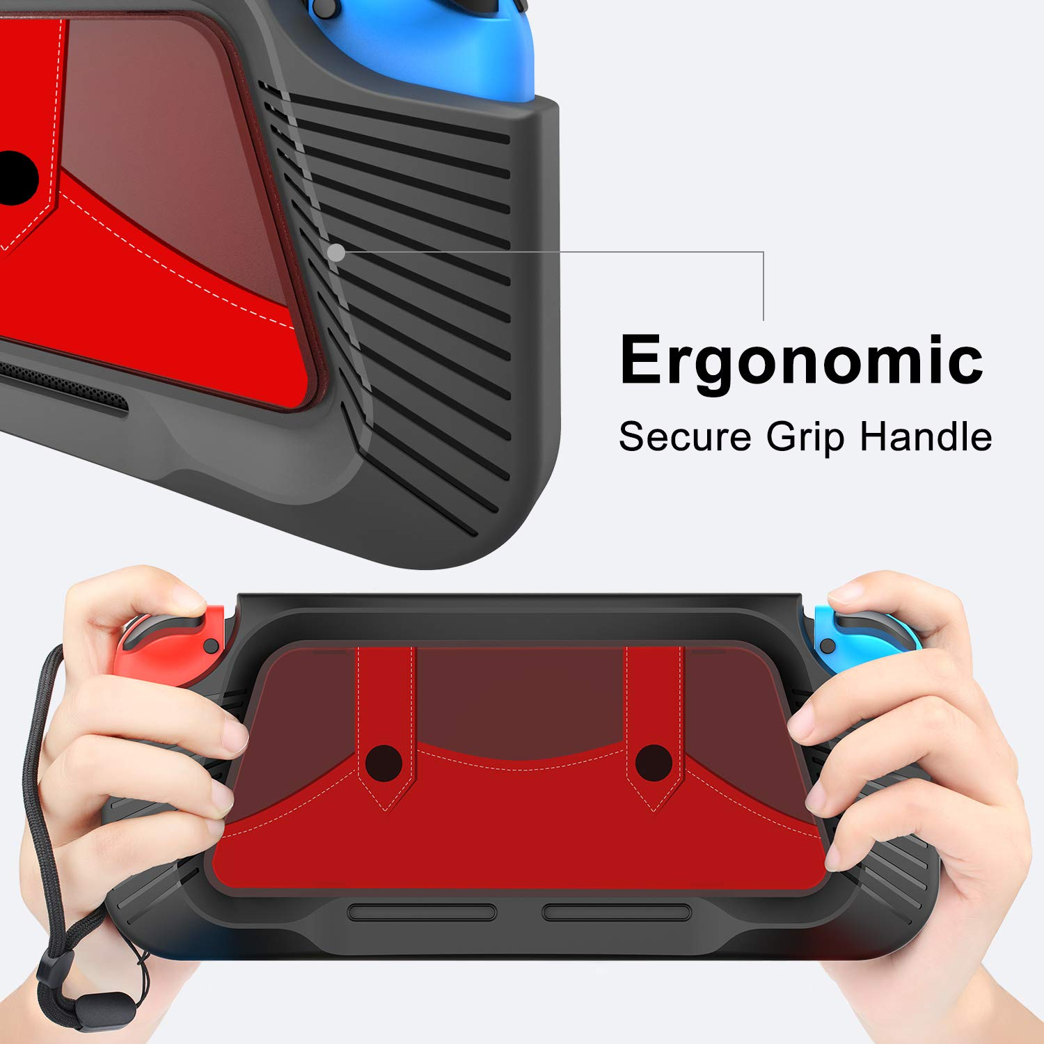 Nintendo Switch Case, Protective Heavy Duty Cover Case for Nintendo Switch with Shock-Absorption and Anti-Scratch