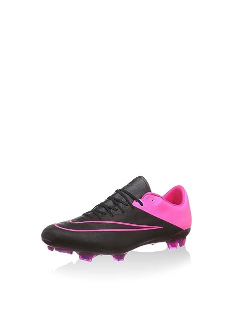 quality design 2f900 160ce Nike Men s Mercurial Vapor X FG Leather Soccer Cleats - (Black Hyper Pink)