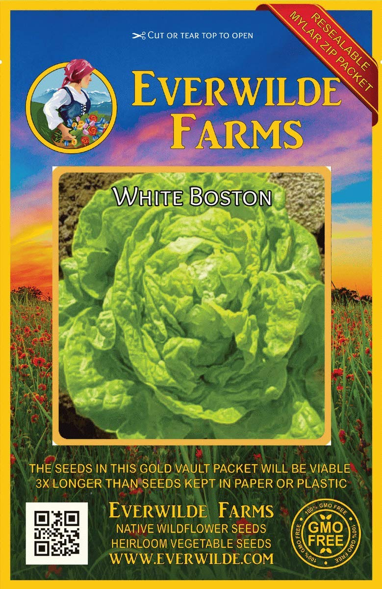Everwilde Farms Mylar Seed Packet 1//4 Lb Freckles Romaine Lettuce Seeds