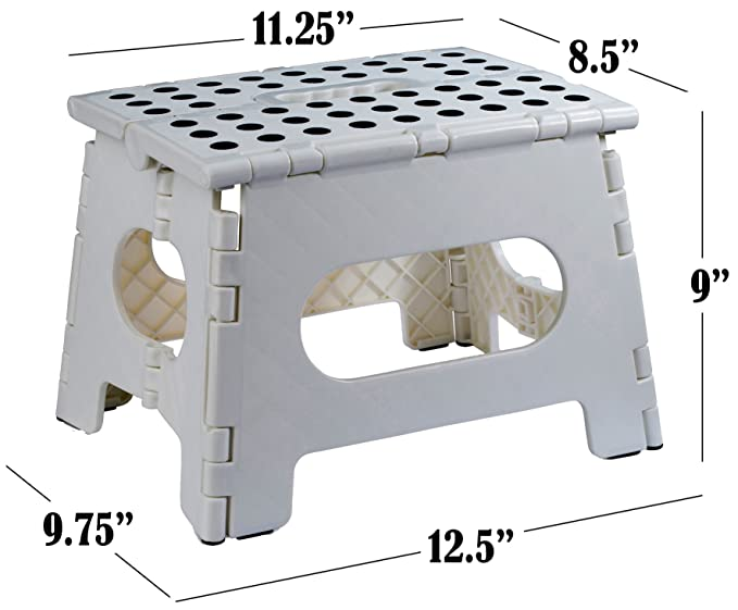 Cool Folding Step Stool The Lightweight Step Stool Is Sturdy Enough To Support Adults And Safe Enough For Kids Opens Easy With One Flip Great For Cjindustries Chair Design For Home Cjindustriesco
