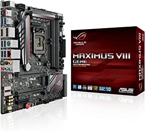 Asus ROG MAXIMUS VIII GENE LGA1151 DDR4 M.2 SATA 6Gb/s USB3.1 Type A Type C Intel Z170 mATX Motherboard