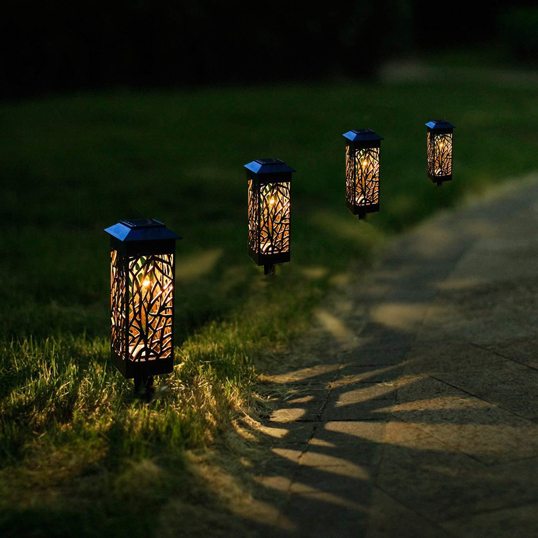 Solarleuchte Garten LED Solarlampe Gartenleuchte f/ür drau/ßen,LED Solar Laterne Wasserdicht IP44,Decorative Solarlamp f/ür Au/ßen Garten Rasen Patio Hof