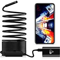 TAOPE Waterproof Flexible Wireless Endoscope WiFi Borescope Inspection Camera 2.0 Megapixels for Android and iOS…