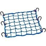 PowerTye Rede de carga azul 50153 38 x 38 cm com 6 ganchos ajustáveis e malha justa de 5 x 5 cm