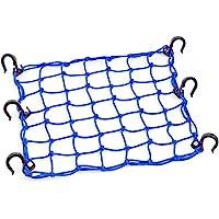 "PowerTye 50153 Blue 15""X15"" Cargo Net Featuring 6 Adjustable Hooks & Tight 2""x2"" Mesh"