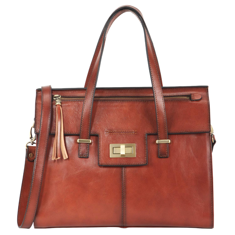60d745ace3 Banuce Vintage Full Grain Italian Leather Purses and Handbags for Women  Satchel Bag Ladies Tassel Tote Messenger Shoulder Bag Brown: Handbags:  Amazon.com