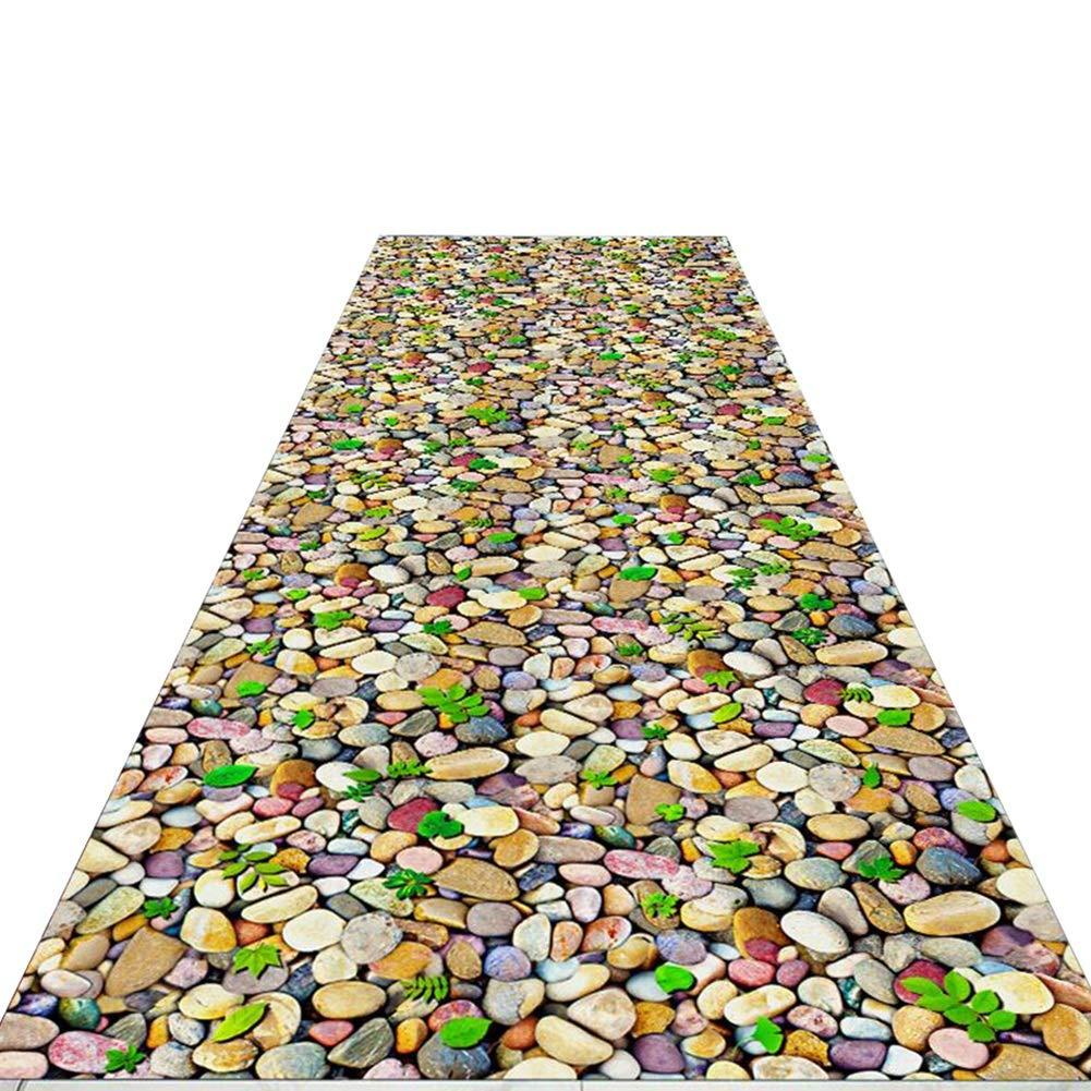 HAIPENG 廊下のカーペット 3D 石 設計 ランナー ラグ にとって 廊下 狭い エリアラグ ステインフェード耐性 にとって キッチン そして 入り口 フォーマル (色 : A, サイズ さいず : 1.4x7m) B07P6BDV25 A 1.4x7m