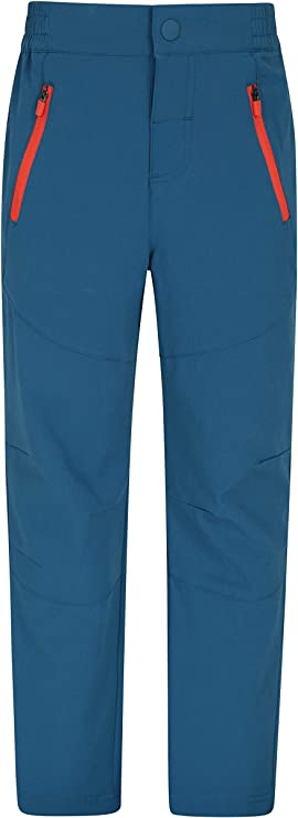 Ripstop Fabric Childrens Pants Mountain Warehouse Mountain Kids Lightweight Trousers Zipped Pockets Parks Picnic Adjustable Waistband Bottoms Best for Outdoors