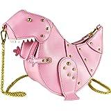 DUSUN Women Messenger Bags Dinosaur Shape PU Leather Rivet Chain Crossbody Shoulder Bag Girl Mini Clutch Purse