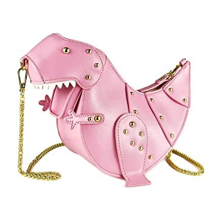 Image Unavailable. Image not available for. Color  DUSUN Women Messenger  Bags Dinosaur Shape PU Leather Rivet Chain Crossbody Shoulder Bag Girl Mini  Clutch 907cce86207c1