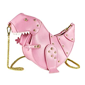 97ebc35dd6 Amazon.com: DUSUN Women Messenger Bags Dinosaur Shape PU Leather Rivet  Chain Crossbody Shoulder Bag Girl Mini Clutch Purse (Pink): MR.YLLS
