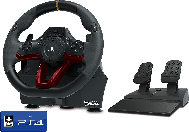 Volante y Pedales PS4 Inalámbrico [Nuevo Modelo] Licencia Oficial Sony Playstation 4