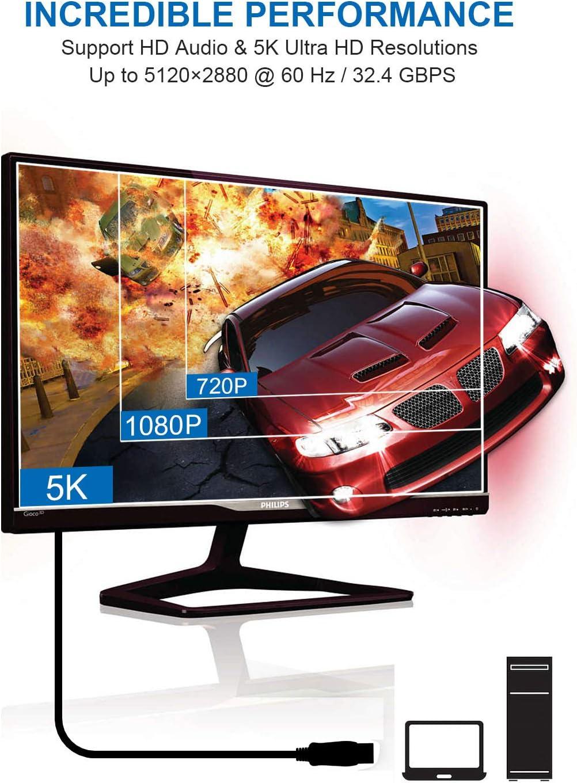 Cable DisplayPort a DisplayPort 2M Elegear Cable DP a DP: Amazon.es: Electrónica