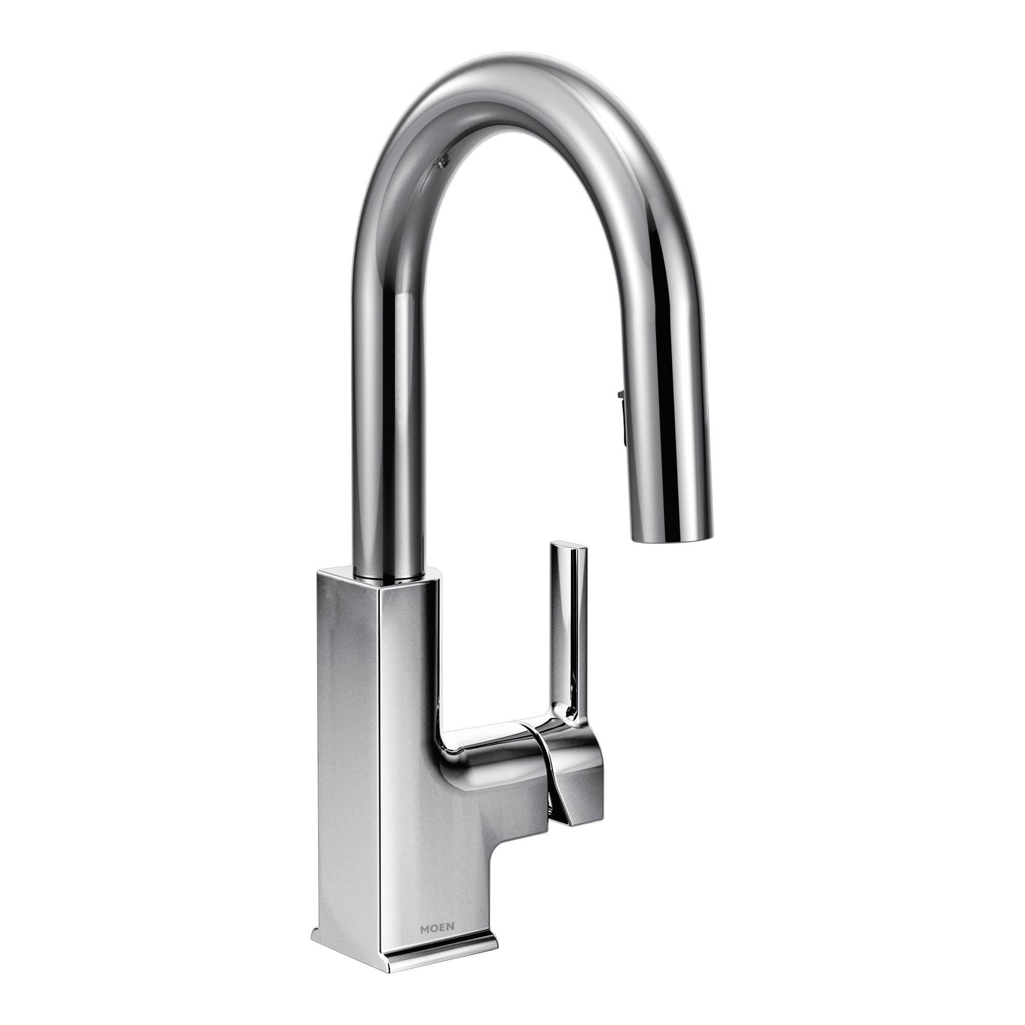 Moen S62308 STO One-Handle High Arc Pulldown Bar Faucet Featuring Reflex, Chrome
