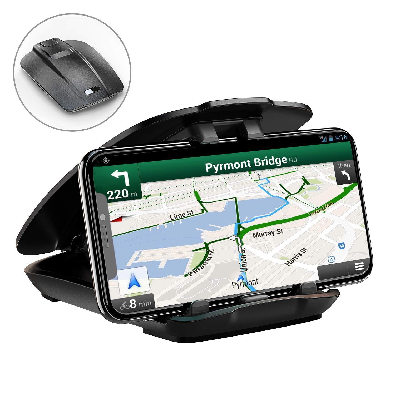 Support Té lé phone Voiture, STOON Support Tableau de Bord [Ouverture Facile Pliage Rangé ] Universel Porte Voiture iPhone XS Max/XR/XS/X/8/8 Plus, Galaxy S9 Plus/S8 Plus/Note 9, GPS Cocoda Car Phone Holder-Black